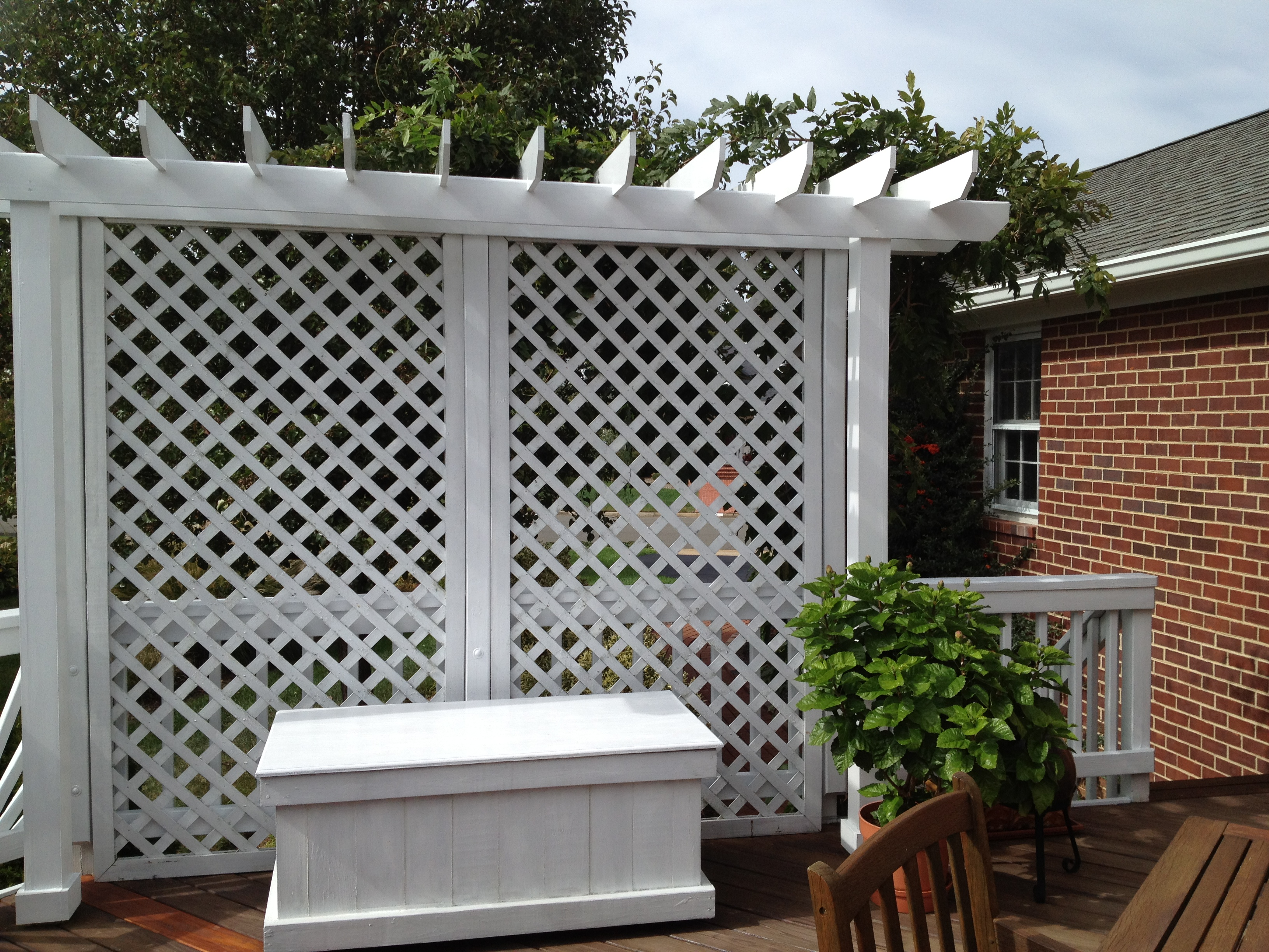 Lisa earthgirl gardening tips and helpful advice 2013 for Lattice for privacy on patio