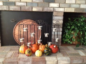 And don't forget some pumpkins for the hearth- from our house to yours- Happy Autumn!