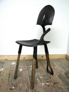 Made from worn out gardening tools, this chair is a definite for my garden.