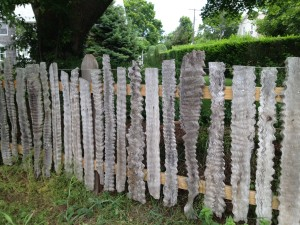 This is a fence in Cape Cod. I love the natural element in coastal villages.