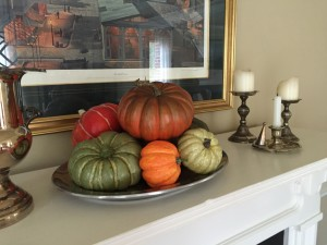 Simply piled on a platter to add color in the dining room.