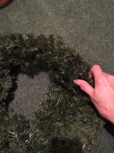 If you flatten wreaths out before storing them, they take up WAY less space.