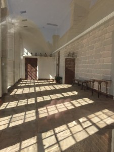 The inside of the orangery at Mt. Vernon